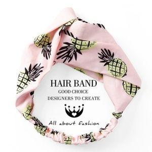 NWT Pink Pineapple Headwrap Headband
